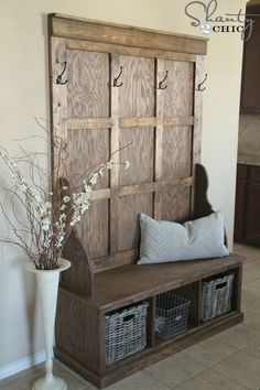 meuble d'entrée en bois