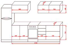 Картинки по запросу высота горизонтальных кухонных ящиков