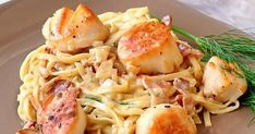 Healthy Pesto Sauce, Healthy Pasta Salad, Healthy Pastas, Best Pasta Dishes, Pasta Dinner Recipes, Chicken Pesto Recipes, Pan Seared Scallops, Bacon Scallops, Pasta Sauce Olives