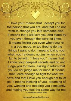 """I love you"" means..."