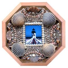 Nantucket Sailors' Valentine Seashell Mosaic Octagonal by NSVS