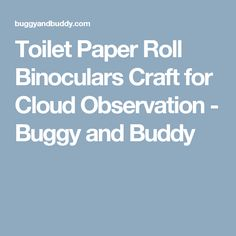 Toilet Paper Roll Binoculars Craft for Cloud Observation - Buggy and Buddy