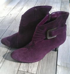 Purple Ankle Boots, Size 10 $19.00
