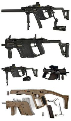 Kriss Vector Submachinegun 45ACP Full Auto. Best Close quarter combat gun in the world. Super low recoil and high power chamber in a tight package.