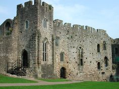 Chepstow Castle in the town of Chepstow, Monmouthshire, southeast Wales