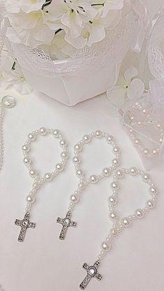 Bracciali di perle di vetro bella Rosario. Ideale per