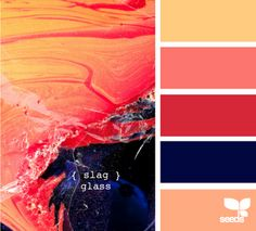 navy and coral.  Love these colors!