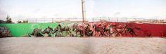 Skount, Cerezo and Laguna New mural in Barcelona — Urbanite Street Artists, Urban Art, Illusions, Spanish, Scene, Barcelona Spain, World, Don Quixote, Cherry Tree