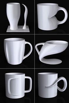 For the post-modernist: 35 Awesome Mugs Every Coffee Lover Will Appreciate Cool Mugs, Unique Coffee Mugs, Pottery Mugs, Ceramic Pottery, Ceramic Cups, Ceramic Art, Tassen Design, Coffee Tattoos, My Cup Of Tea