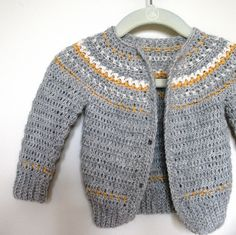 Ravelry: Fairly Isleish Fair Isle Style Cardigan Sweater for Boys and Girls pattern by Sarah Lora