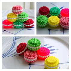 Macarons hama beads by Anne-Mette Storgaard - http://mode-makronerne.blogspot.dk/