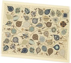 "Arbre de Vie | Hermes blanket in crepuscule. | 100% cashmere. Measures 59"" x 79"""