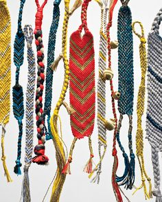 Beloved by summer campers, these knotted bracelets also make great adult accessories.