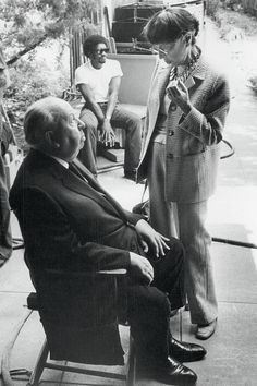 Alfred Hitchcock and Edith Head, 1970.