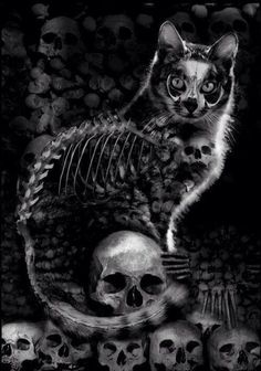 Not very fond of cats but this is pretty neat ~Gothic Art
