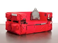 Backpack sofa - compartments galore!