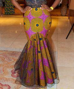 Évasée bas Ankara jupe Maxi par Africandressshop sur Etsy