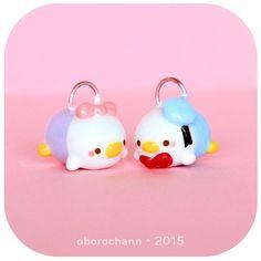 Polymer Clay Disney Donald & Daisy Duck Tsum Tsums by Oborochann