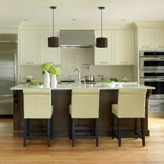 transitional decor | Sleek Transitional Style | Happier Kitchens