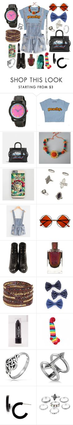 """""""Wet Mess"""" by mandurugo ❤ liked on Polyvore featuring Sprout, Coach, Miss Selfridge, Retrò, Pour La Victoire, Chan Luu, Bling Jewelry, Allurez and L. Erickson"""