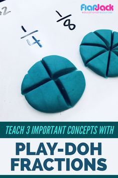 Explain three fraction concepts with pizza play-doh! Students love it and their … Explain three fraction concepts with pizza play-doh! Teaching Fractions, Math Fractions, Teaching Math, Adding Fractions, Comparing Fractions, Dividing Fractions, Equivalent Fractions, Math Teacher, Multiplication