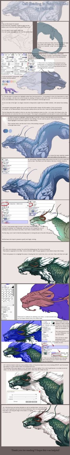 Cell Shading in Paint Tool SAI - TUTORIAL by noebelle on DeviantArt