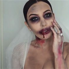 Zombie Bride Tutorial by @j_make_up Idea for #Halloween