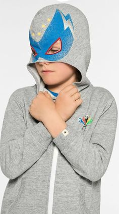 Cool! Summer Sale! BILLYBANDIT Boys Grey Cotton Zip-Up Top. With a hood inspired by Mexican wrestling, this zip-up top by Billybandit is great fun. Made in soft and lightweight sweatshirt jersey, it has the words 'Super Fast' printed on the chest. Shop at Childrenslaon. (affil) #kidsfashion #fashionkids #boyssuit #childrensclothing #boysclothes #boysclothing #boysfashion #billybandit