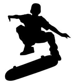 skateboard clipart image skateboarder riding a skateboard and doing rh pinterest com skate board clip art black and white free skateboarding clipart
