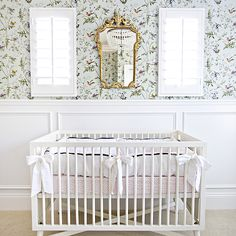 Nursery Wainscoting, Transitional, nursery, Studio McGee