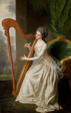 Lady Frances Seymour Conway, Countess of Lincoln. William Hoare (English, Oil on canvas. The University of Nottingham. Hoare was the pupil of Giuseppe Grisoni with whom he went to Italy in. Victorian Paintings, Victorian Art, Classic Paintings, Old Paintings, Instruments, 18th Century Fashion, Women In Music, Art Uk, Classical Art
