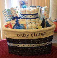 Baby Shower Gift Basket w/Diaper Cake