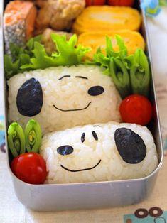 俵おにぎりで★スヌーピー弁当|なおちゃんのキャラ弁&キャラスイーツⅡ |Ameba (アメーバ)
