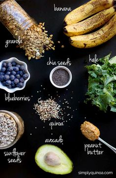 How to make the ULTIMATE green smoothie bowl! Ingredients that will supercharge your day, fuel you up and give you long-lasting ENERGY!Use almond butter!