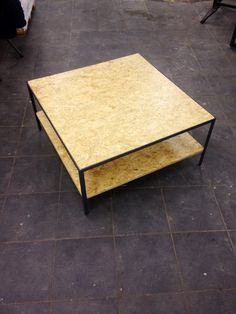 Side table by 'Studio Westerwoudt'; Steel frame, OSB wood