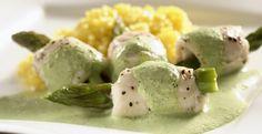 #receta Rollitos de #pescado en salsa de perejil y jalapeño #CuidarseEsDisfrutar