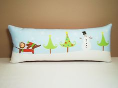 Someone needs to get me this next Christmas - a Doxie Dachshund Christmas Pillow!