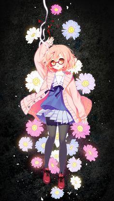 Kyoukai no Kanata (Beyond The Boundary) - Zerochan Anime Image Board Manga Art, Manga Anime, Anime Art, Sword Art Online, Vocaloid, Otaku, Mirai Kuriyama, Beyond The Boundary, Hokusai