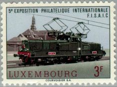 Sobre Filatelia y Ferrocarriles: Locomotora BB 3600 (Luxemburgo, 1966)