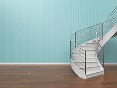 Modern Living Room Simple Staircase Composition and loft of Home office