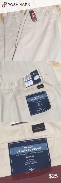 🎁NWT🎁Dockers Original Khaki Pants Brand New!🎉Original Khaki Classic Fit w/ Flat front & Original Fit Waistband. Dockers Pants Chinos & Khakis