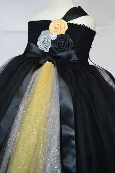 New Years Black Gold and Silver tutu dress by TutuSweetBoutiqueINC, $65.00