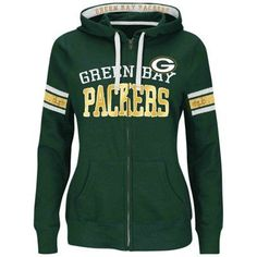 Majestic Green Bay Packers Women's Green Red Pure Heritage VI Full Zip Pullover Hoodie is available now at FansEdge. Packers Gear, Packers Baby, Go Packers, Packers Football, Packers Season, Greenbay Packers, Green Bay Packers Sweatshirt, Green Bay Packers Fans, Nfl Green Bay