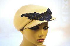 """""""Toni"""" Felt Cap  BY BRIDGET EARLY #millinery #hats #HatAcademy"""