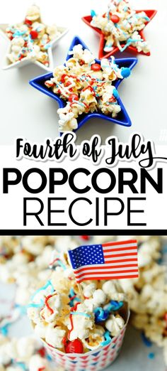 Easy Fourth of July popcorn recipe. Make this holiday recipe within minutes. #FourthofJuly #HolidayRecipes #Popcorn #FourthofJuly #PopcornRecipe #Popcorn Summer Fun For Kids, Summer Activities For Kids, Popcorn Recipes, Snack Recipes, Snacks, 4th Of July Celebration, Fourth Of July, Summer Recipes, Holiday Recipes