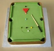 Snooker cake by Barbara Lee