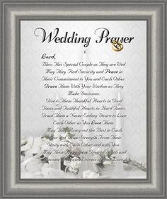 Wedding Marriage Anniversary Prayer Satin Silver Frame 8 X 10 Inspirational Christian Gift Wall Dcor *** Click image to review more details.