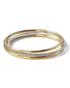 Lauren Ralph Lauren Pave Bangles (Set of 3) | Bloomingdale's
