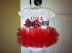 UGA / Any Team Posh Tutu Onesie by LCBags on Etsy, $27.00