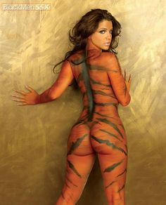 Tiger paint body guerra vida